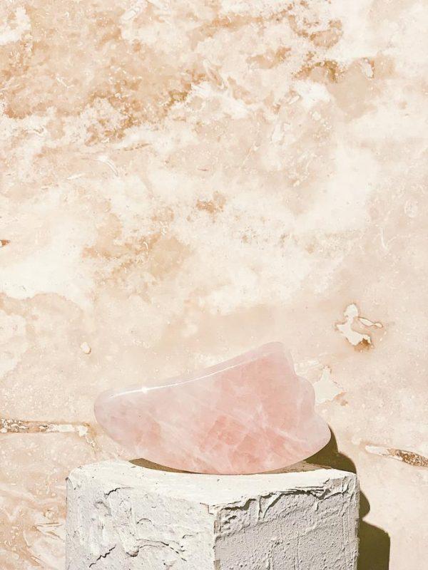 Rose Quartz Gua Sha Facial Sculpting Board
